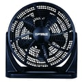 Optimus 3-Speed 12in. Turbo High Performance Air Circulator, White