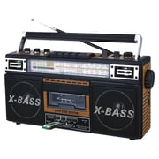 Quantum FX® 4-Band Radio and Cassette To MP3 Converter With USB/SD/MP3 Player, Wood