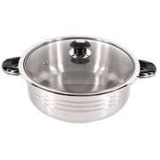 Super X Better Chef 16 qt. Stainless Steel Oval Shallow Pot