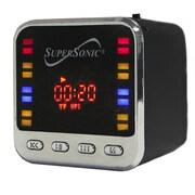 Supersonic® sc1343-Portable MP3 Speaker With FM Radio, Black