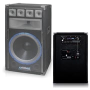"Technical Pro pvrtx15ubt Carpeted 15"" 5-Way Active Loudspeaker With USB/MP3 Inputs, Black"