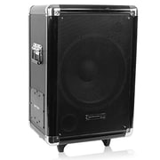 "Technical Pro wasp12sub 1000 W 12"" Portable Active PA Subwoofer With Speaker/Pull-Up Handle and Wheels"