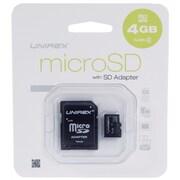 Unirex® 4GB MicroSD High Capacity Class 4 Memory Card With SD Adapter