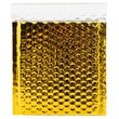 "JAM Paper® 6"" x 6 1/2"" Square Metallic Bubble Envelopes w/Peel and Seal Closure, Gold, 12/Pack"