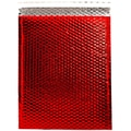 JAM Paper® 12in. x 15 1/2in. Open End Metallic Bubble Envelopes w/Peel and Seal Closure, Red, 12/Pack