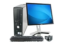 Refurbished Dell Optiplex 755 2.5GHz Core 2 Duo DVD Small Form Factor Computer PC with 19' LCD monitor