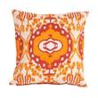 Jaipur LSC02 Handmade Throw Bolster Pillow Cotton, Natural & Orange