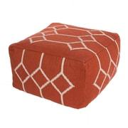 Jaipur CD27 Cadiz Pouf Cotton, Red