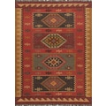 Jaipur Bedouin Red Tribal Area Rug Jute