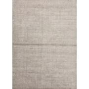 Jaipur Solid Pattern Area Rug Wool & Art Silk 8' x 10', Classic Gray