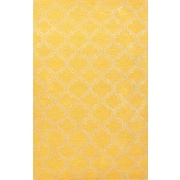 Jaipur Rugs Wool & Art Silk, Bright Yellow & White