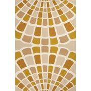 Jaipur Shellfish Rectangle Area Rug Polypropylene, 5' x 7.6'