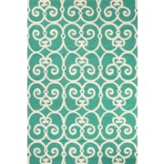 Jaipur Barcelona Hand Made Area Rug Polypropylene 5' x 7.6', Blue & White