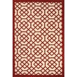 Jaipur Barcelona Area Rugs 100% Polypropylene 2' x 3', Red & White