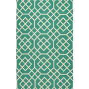 Jaipur Rectangle Area Rug Polypropylene 7.6' x 9.6', Green & White
