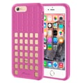 rooCASE iPhone 6 RC-IPH6-4.7-QD-PI Slim Fit Quadric TPU Case Protective Cover, Pink