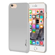 rooCASE iPhone 6 RC-IPH6-4.7-MD-SI Slim Fit Median Hard Case Protective Cover, Silver