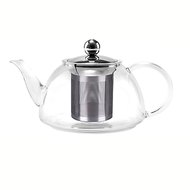 Tao Tea Leaf Glass Tea Pots with Stainless Steel Infuser, 800ML