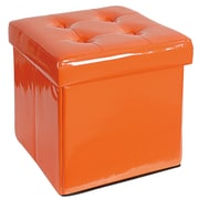 A&B Home Ottoman; Orange