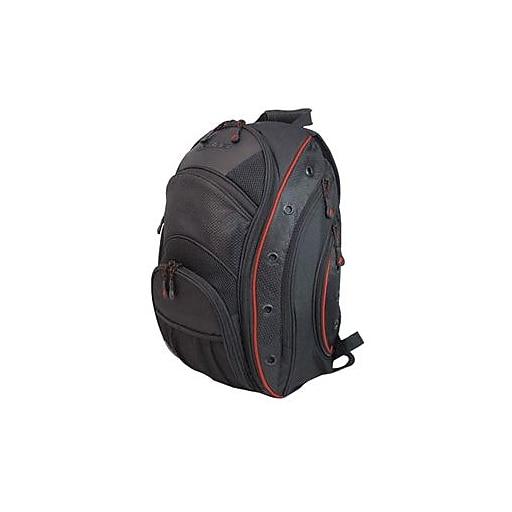 Mobile Edge EVO Backpack For 16  Laptop, Black/Red.