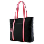 "Mobile Edge Komen MicroFiber Tote For 17.3"" Laptop, Black/Pink"