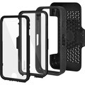 Amzer® CRUSTA™ Tempered Glass Rugged Case With Holster For iPhone 6, Black/Black