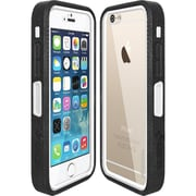 Amzer® CRUSTA™ Tempered Glass Rugged Case With Holster For iPhone 6, Black/White