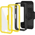 Amzer® CRUSTA™ Tempered Glass Rugged Case With Holster For iPhone 6, Black/Yellow