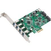 Syba™ 6-Port 4x USB 3.0/2x SATA III Multimedia PCIe 2.0 Combo Card