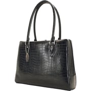 "Mobile Edge Milano Black Faux-Croc 17.3"" Laptop Large Handbag (MEMC1L)"