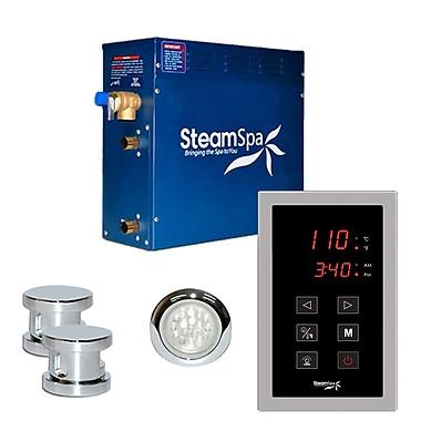 Steam Spa SteamSpa Indulgence 10.5 KW QuickStart Steam Bath Generator Package in Polished Chrome