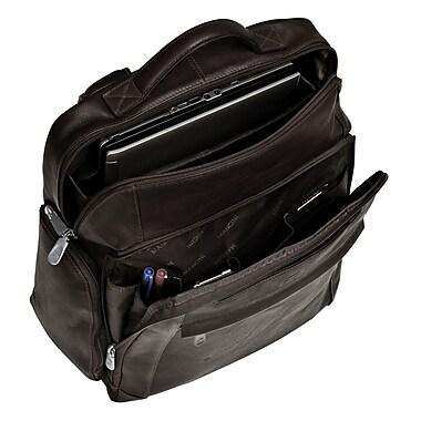 Mancini - Sacs à dos en cuir pour portatifs de jusqu'à 15,6 po, 13,5 x 5,5 x 15,5 po