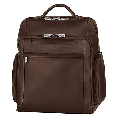 "Mancini Leather Backpack for 15.6"" Laptop Computer, 13.5""x 5.5""x 15.5"