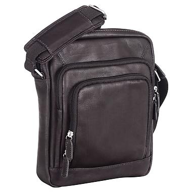 Mancini - Sac fourre-tout unisexe pour tablettes électroniques à pochette sécurisée RFID, 8 x 1,75 x 9,75 po, noir
