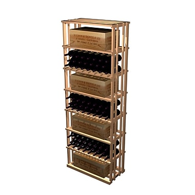 Wine Cellar Designer Series 153 Bottle Floor Wine Rack; Classic Stained Premium Redwood