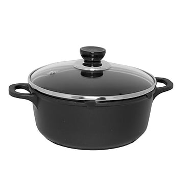 EMF Non-Stick Soup Pot with Lid, Black, 9.5