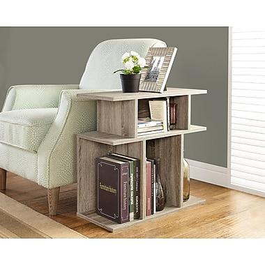 Monarch – Table d'appoint de style vieux bois, 24 po haut., taupe foncé