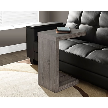 Monarch Reclaimed-Look Hollow-Core Side/Accent Table, Dark Taupe