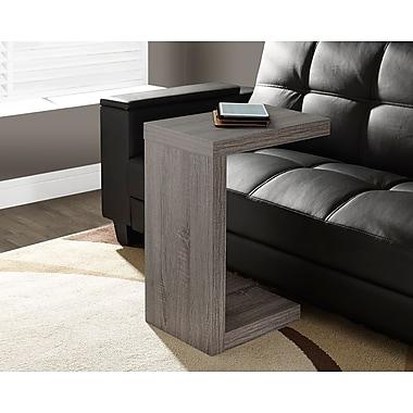 Monarch – Table d'appoint à âme creuse, style vieilli, taupe foncé