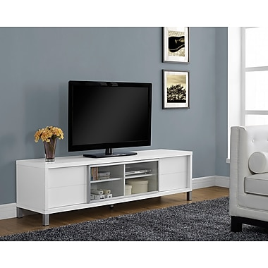 Monarch - Téléviseur-console Euro à âme creuse, 70 po de long., blanc