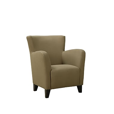 Monarch Linen Fabric Club Chair, Brown