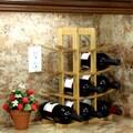 Oceanstar Design Bamboo 12 Bottle Tabletop Wine Rack; Natural