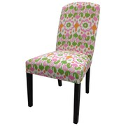 Sole Designs Flora Cotton Parson Chair (Set of 2); Pink / Green