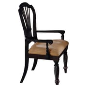 Hillsdale Wilshire Dining Arm Chair (Set of 2); Black