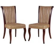 International Design Side Chair (Set of 2); Leather - Tan