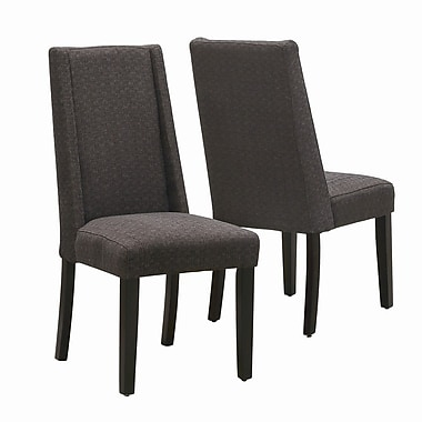 Monarch Specialties Inc. Parsons Chair III (Set of 2); Dark Brown