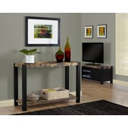 """Monarch Specialties Distressed Reclaimed-Look 48""""L Console Table, Black (I 1623)"""
