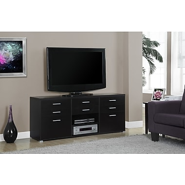 Monarch Hollow-Core TV Console with 8 Drawers, 60