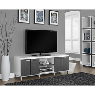 Monarch - Téléviseur-console à âme creuse, longueur de 60 po, blanc/gris