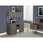 "Monarch Office Storage Credenza, 48""L, Dark Taupe Reclaimed-Look"